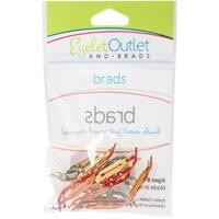 Eyelet Outlet Shape Brads 12/Pkg-Sled