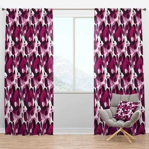 Designart 'Abstract Design Retro Pattern VI' Mid-Century Modern Blackout Curtain Panel