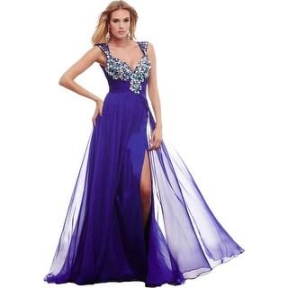Mac Duggal Womens Formal Dress Chiffon Prom