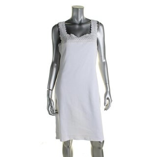 Ralph Lauren Womens Petites Casual Dress Lace Trim Sleeveless - pl