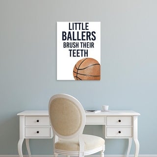 Easy Art Prints Studio W's 'Little Ballers I' Premium Canvas Art