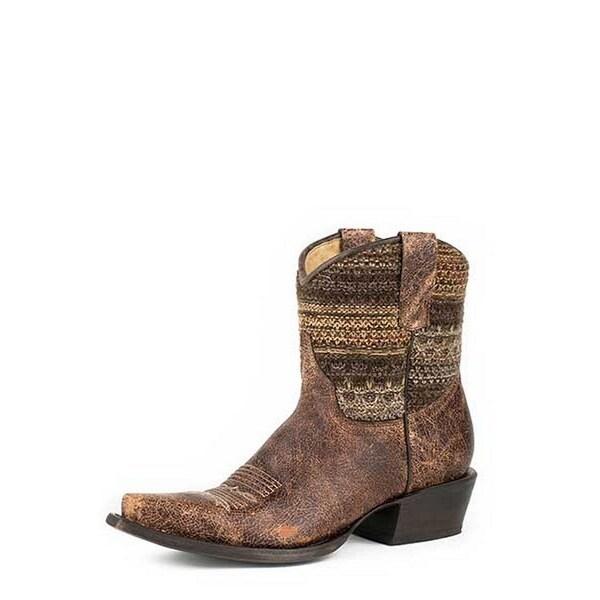 Roper Western Boots Womens Vintage Snip Brown
