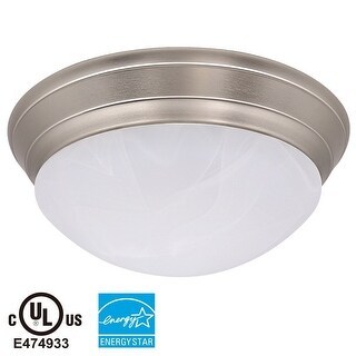 Flush Mounted Dimmable Ceiling Light Bronze/Brushed Nickel Base Color Glass Lens 23W 3000K Warm White 1600lm