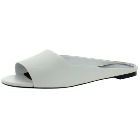 Via Spiga Womens Flats Leather Slip On - White - 7 Medium (B,M)