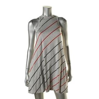 Alternative Apparel Womens Striped Halter Casual Dress - XS