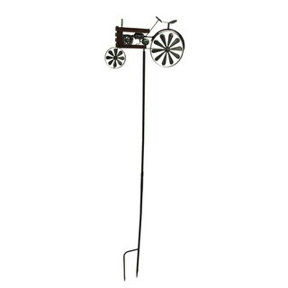 """66""""X17"""" Red Metal Tractor Spinner"""