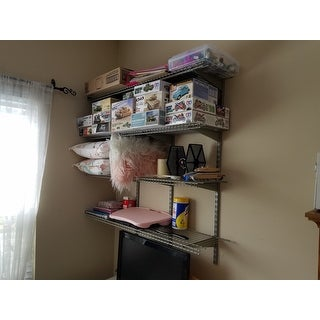 ClosetMaid ShelfTrack 4-Shelf Nickel Wire Shelving Unit