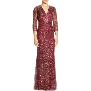 Kay Unger Womens Evening Dress Lace Overlay Lined