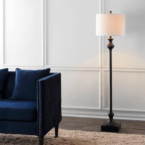 "SAFAVIEH Lighting 62-inch Brewster Black Floor Lamp - 15"" W x 15"" L x 61.5"" H"