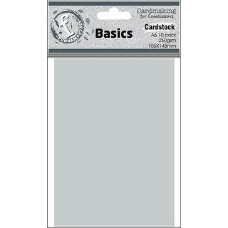 Fundamentals Cardmaking A6 Cards 10/Pkg-Silver