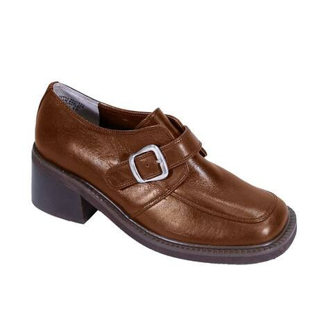 PEERAGE Elana Womens Extra Wide Width Casual Leather Shoes