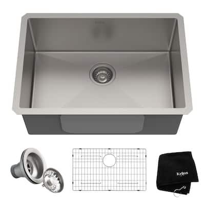 KRAUS Standart PRO Stainless Steel 26 inch Undermount Kitchen Sink