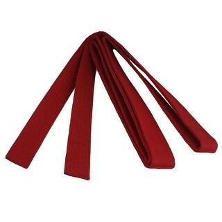 Unique Bargains 9 Ft Karate Martial Arts TaeKwonDo Belt Dark Red Size 4
