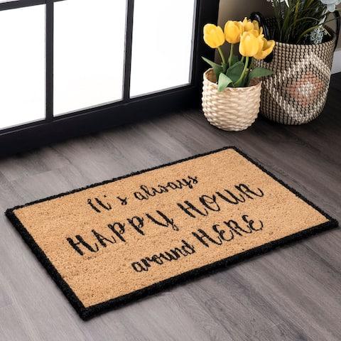nuLOOM Coir Happy Hour Doormat