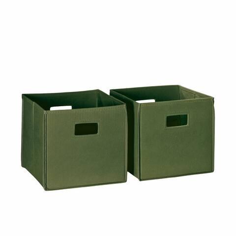 RiverRidge Kids Folding Storage Bins with Handles (Set of 2)