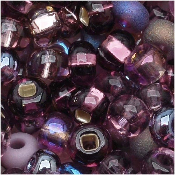 Czech Seed Beads 6/0 ''Purple Passion'' Mix (1 Ounce)
