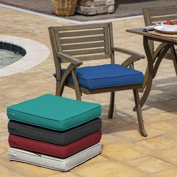 Arden Selections ProFoam Acrylic Outdoor Dining Chair Pad Cushion - 20 L x 20 W x 3.5 H in. Opens flyout.