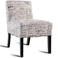 Costway Modern Contemporary Fabric Upholstered Armless Accent Chair Single Leisure Chair