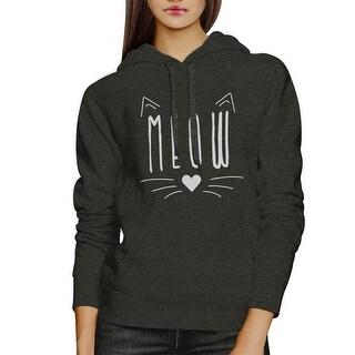 Meow Mens/Unisex Cool Grey Pullover Fleece Hoodie