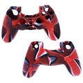 Camouflage Silicon Case Soft Gel Rubber Sleeve For Sony Play Station 4 PS4 Video Game Controller RED - Thumbnail 4
