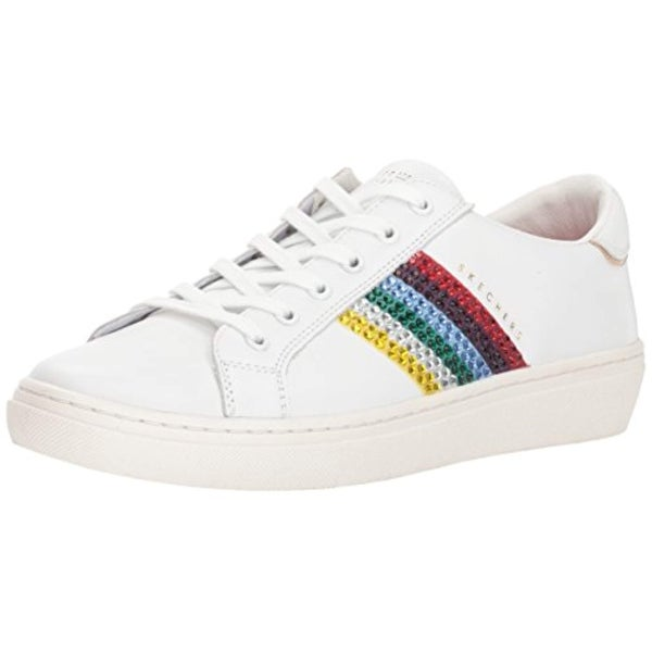 b7ae88ed47 Skecher Street Women's Goldie-Rainbow Sneaker,White
