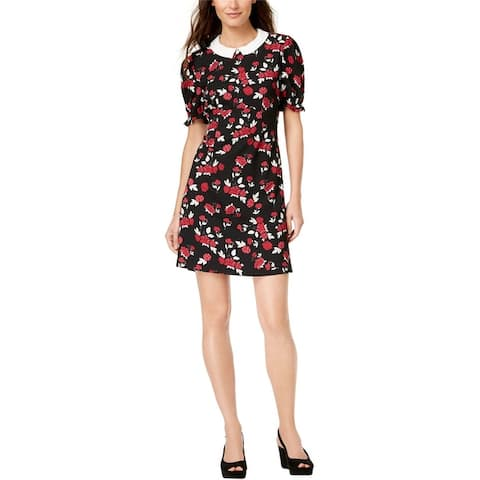 Maison Jules Womens Floral Shift Dress