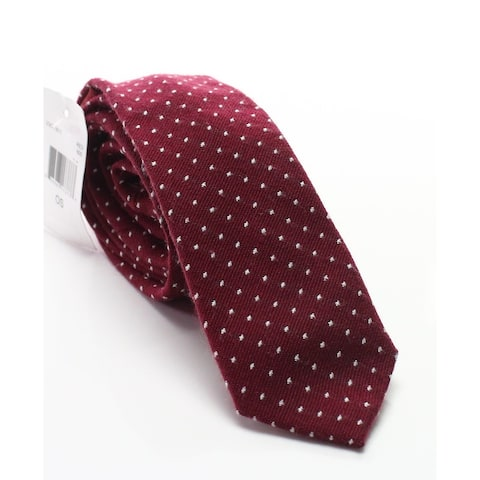 Original Penguin Red Mundo Polka Dot Patterned Wool Blend Men's Necktie