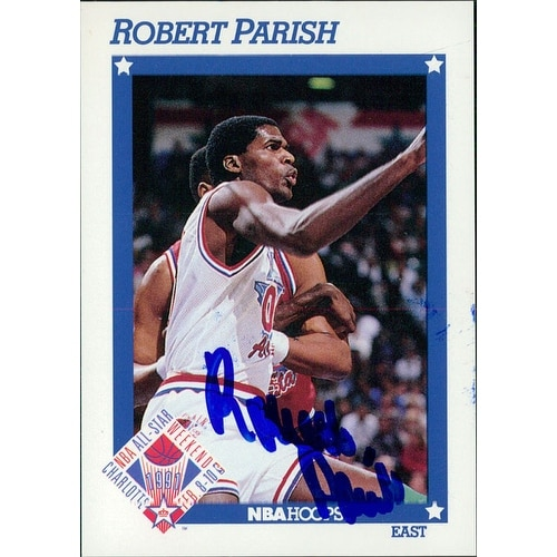 d6049e619dff Signed Parish Robert Boston Celtics 1991 NBA Hoops Basketball Card  autographed
