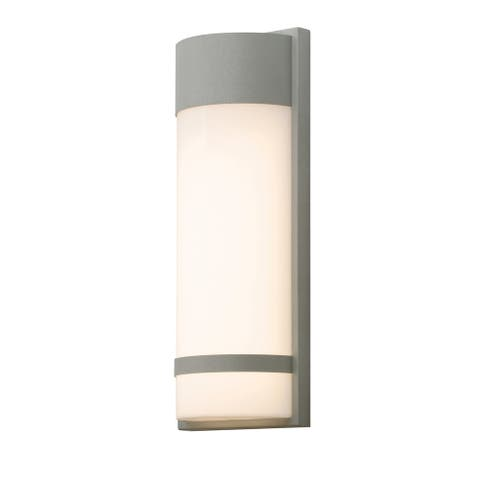 """AFX PAXW071828LAJD2 Paxton Single Light 18"""" Tall LED Outdoor Wall - Textured Grey"""