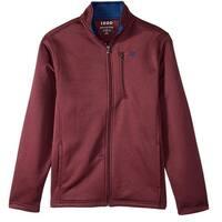 IZOD Red Mens Size Large L Full Zip Mock-Neck Fleece Sweater
