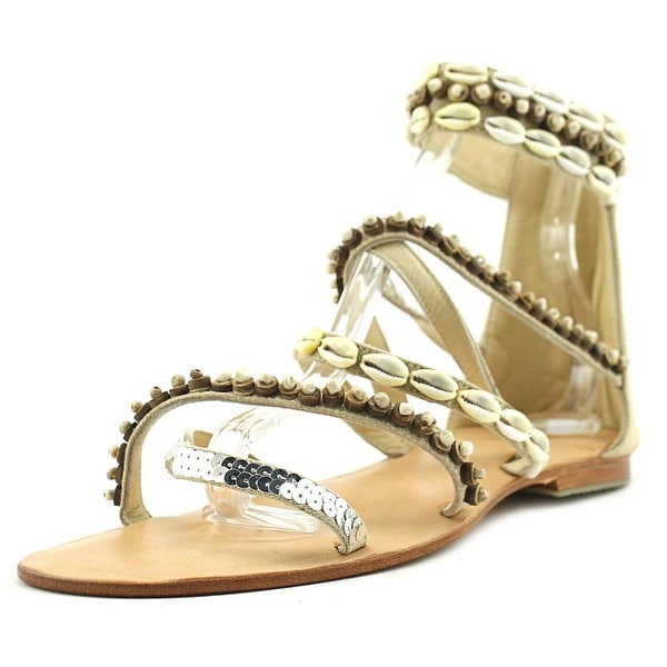 Cocobelle Papua Women Open Toe Leather Nude Gladiator Sandal