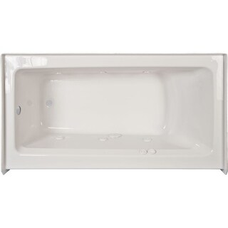 "Jacuzzi J1S6036WRL1XX Signature 59.88"" Whirlpool Alcove Bathtub with Right Drain and Push Button Controls"