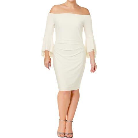 1d21f700 Lauren Ralph Lauren Womens Spencer Cocktail Dress Off-The-Shoulder Bell  Sleeve