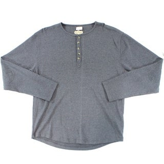 Red Jacket NEW Charcoal Gray Mens Size Small S Long Sleeve Henley Shirt