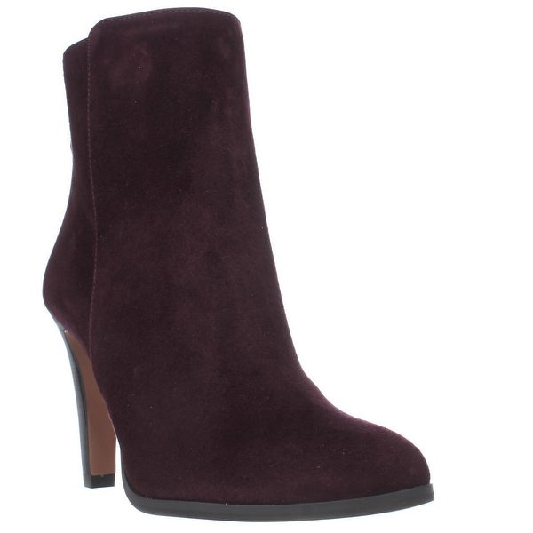 Coach Jemma Sleek Pull On Dress Ankle Boots, Warm Oxblood