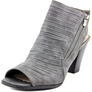 2 Lips Too Too Presley Women  Open-Toe Synthetic Gray Slingback Heel