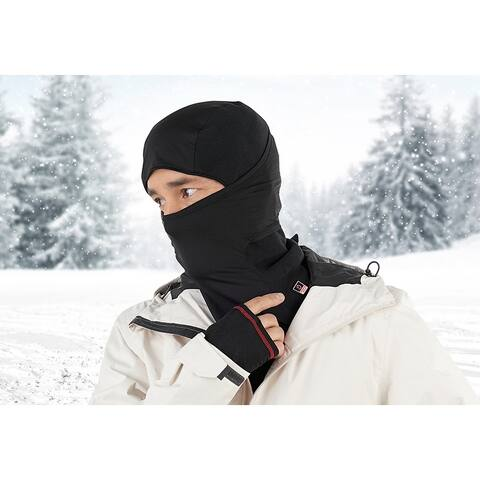 Sharper Image Heated Hood with Face Mask - One Size