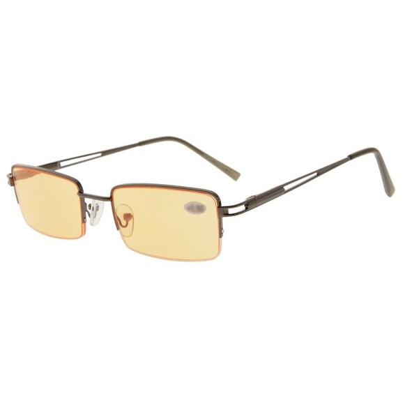 4b3141d6e8c Shop Eyekepper Rectangle Metal Half-rim Spring Hinges Orange Tinted Lenses Reading  Glasses +1.25 - Free Shipping On Orders Over  45 - Overstock - 15920203