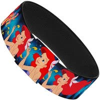 "The Little Mermaid Under The Sea Scenes Elastic Bracelet   1.0"" Wide"