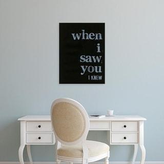Easy Art Prints Deborah Velasquez's 'When I Saw You... I' Premium Canvas Art