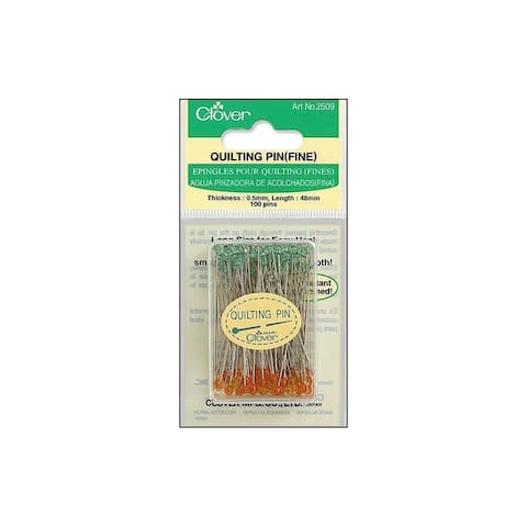 Clover Quilting Pins Fine Boxed 100pc