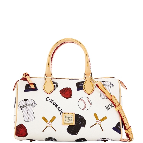 Dooney & Bourke MLB Rockies Classic Satchel (Introduced by Dooney & Bourke at $238 in Feb 2014) - White