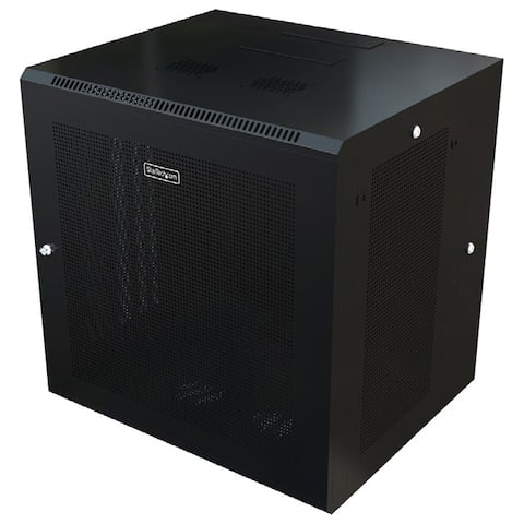 Startech.com rk1820walhm use this wall mount network cabinet to mount your server or networking equipment - Black
