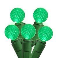 Set of 50 Seafoam Green LED G12 Berry Fashion Glow Christmas Lights - Green Wire