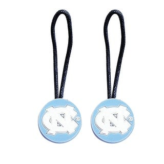 NCAA Zipper Pull Pet id Luggage Bag Tag UNC Tarheels 2 Pack
