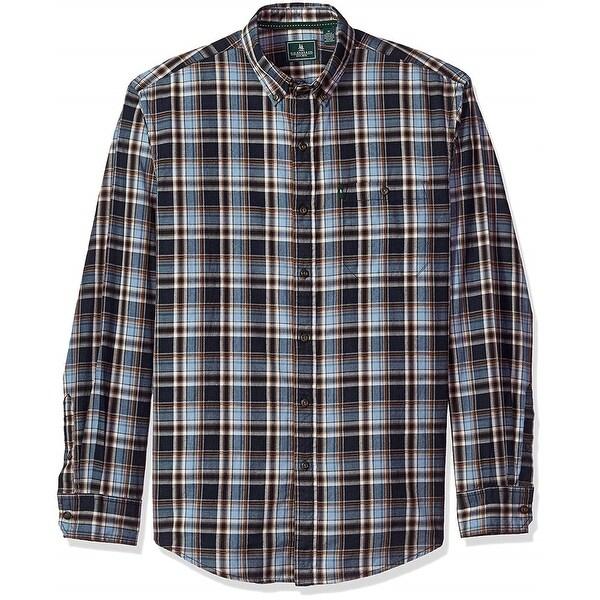 Mens Mountian Twill Plaid Button Up Shirt Bass /& Co G.H