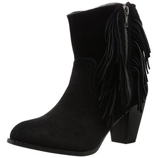Sugar Womens Tuko Ankle Boots Suede Fringe