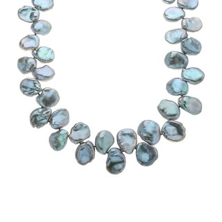 Honora 11-15mm Grey Freshwater Pearl Necklace with Sterling Silver Clasp