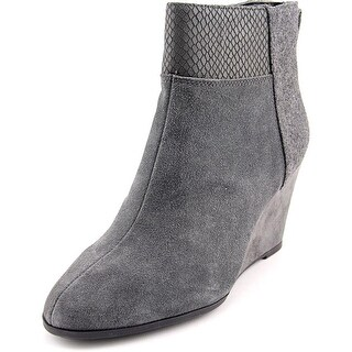 Tahari Sutton Women Round Toe Suede Gray Ankle Boot