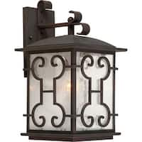 Forte Lighting 1136-01 1 Light Outdoor Wall Sconce with Lantern Shade